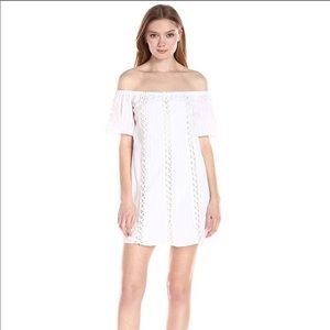 Lucca Couture White Off Shoulder Mini Dress NWOT